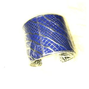 New Aqua man style cuff in blue adjustable